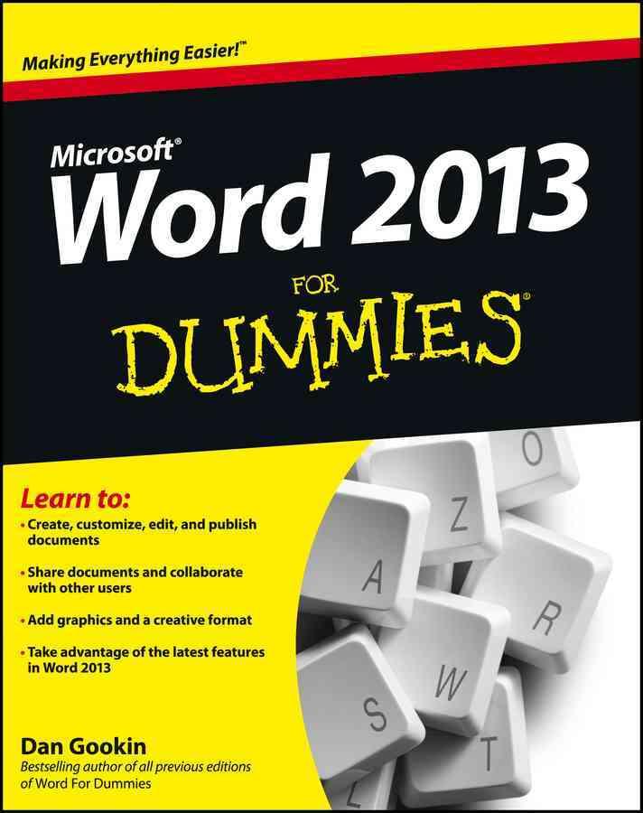 Word 2013 for Dummies By Gookin, Dan